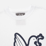 Peaceful Hooligan Outline Dove Men's T-shirt White photo- 1