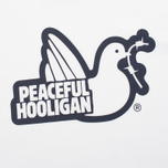 Peaceful Hooligan Outline Dove Men's T-shirt White photo- 2