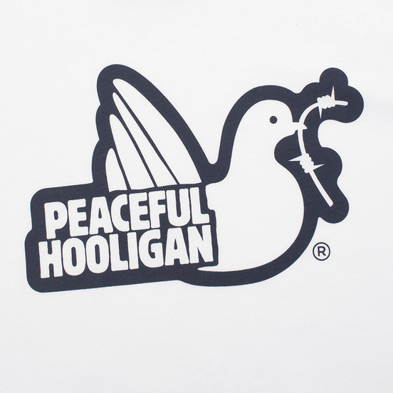 Мужская футболка Peaceful Hooligan Outline Dove White