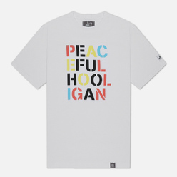 Мужская футболка Peaceful Hooligan Stencil White