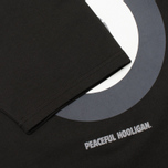 Peaceful Hooligan Target Men's T-shirt Black photo- 4