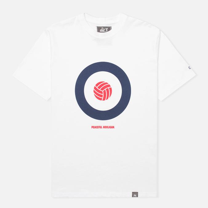 Мужская футболка Peaceful Hooligan Target White