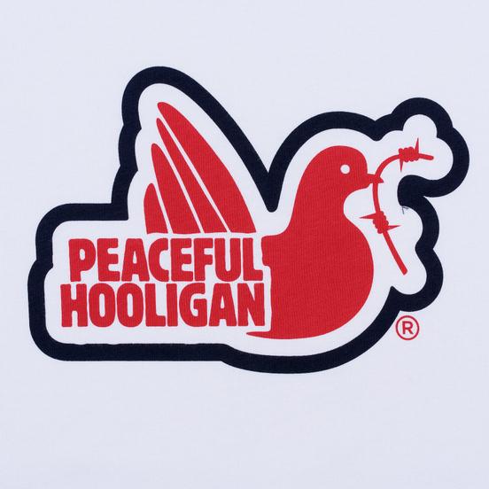 Мужская футболка Peaceful Hooligan Tridove White