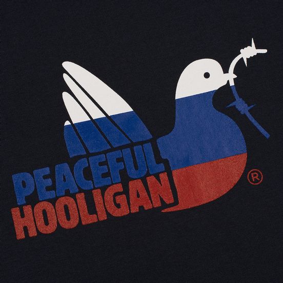 Мужская футболка Peaceful Hooligan BS World Cup Navy
