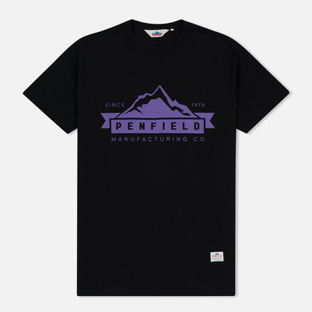 Мужская футболка Penfield Mountain Logo Black/Purple