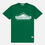 Мужская футболка Penfield Mountain Logo Green/White фото- 0