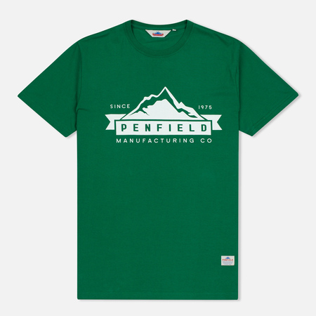 Мужская футболка Penfield Mountain Logo Green/White