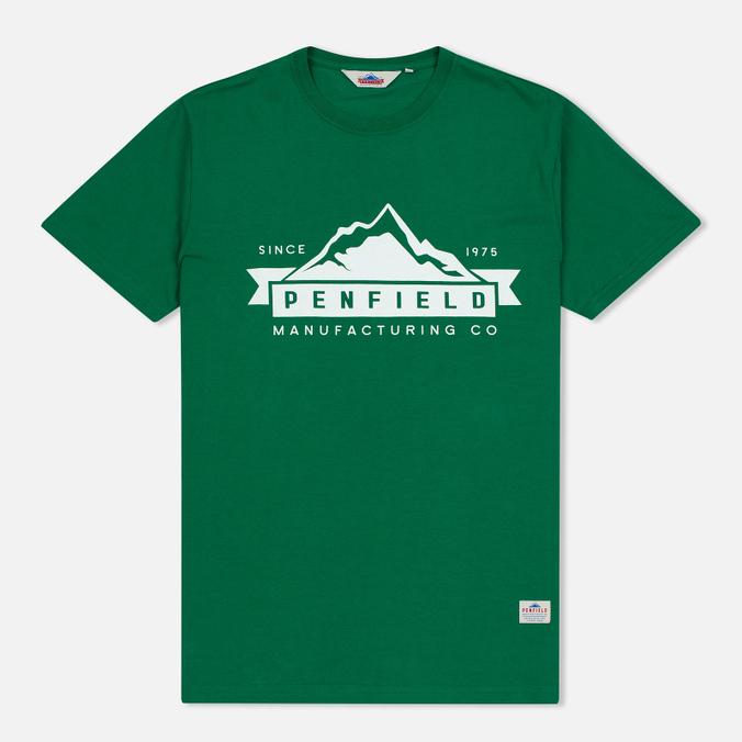 Мужская футболка Penfield Mountain Logo Green/White