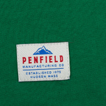 Мужская футболка Penfield Mountain Logo Green/White фото- 3