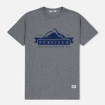 Мужская футболка Penfield Mountain Logo Grey/Blue фото- 0