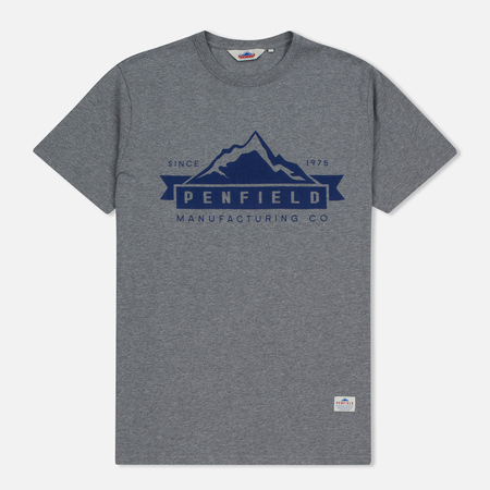 Мужская футболка Penfield Mountain Logo Grey/Blue