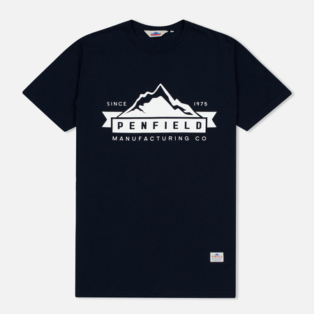 Мужская футболка Penfield Mountain Logo Navy/White