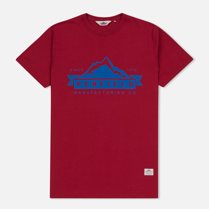 Мужская футболка Penfield Mountain Logo Red/Blue