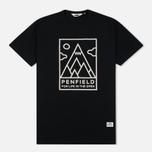 Мужская футболка Penfield Peaks Black фото- 0