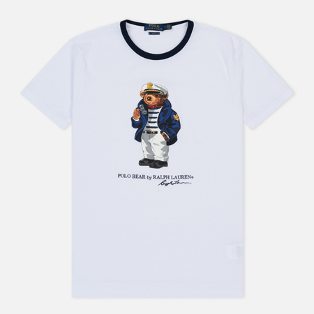 Мужская футболка Polo Ralph Lauren 26/1 Jersey Crew Neck White