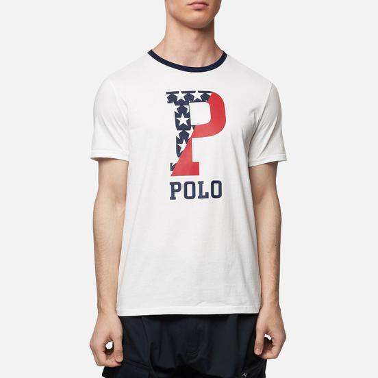 Мужская футболка Polo Ralph Lauren Big P Americana Inspired White