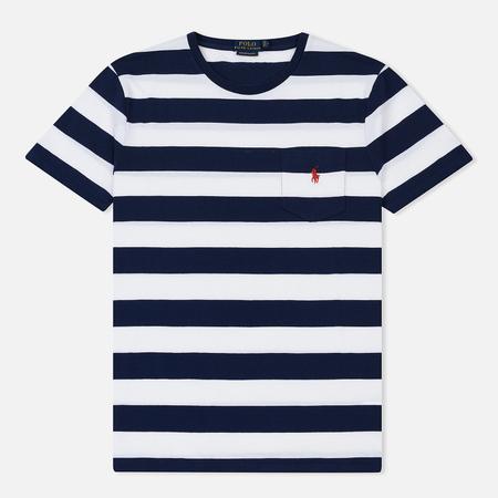Мужская футболка Polo Ralph Lauren Bold Stripe Pocket White/Newport Navy