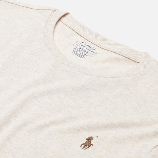 Мужская футболка Polo Ralph Lauren Classic Crew Neck 26/1 Jersey American Heather