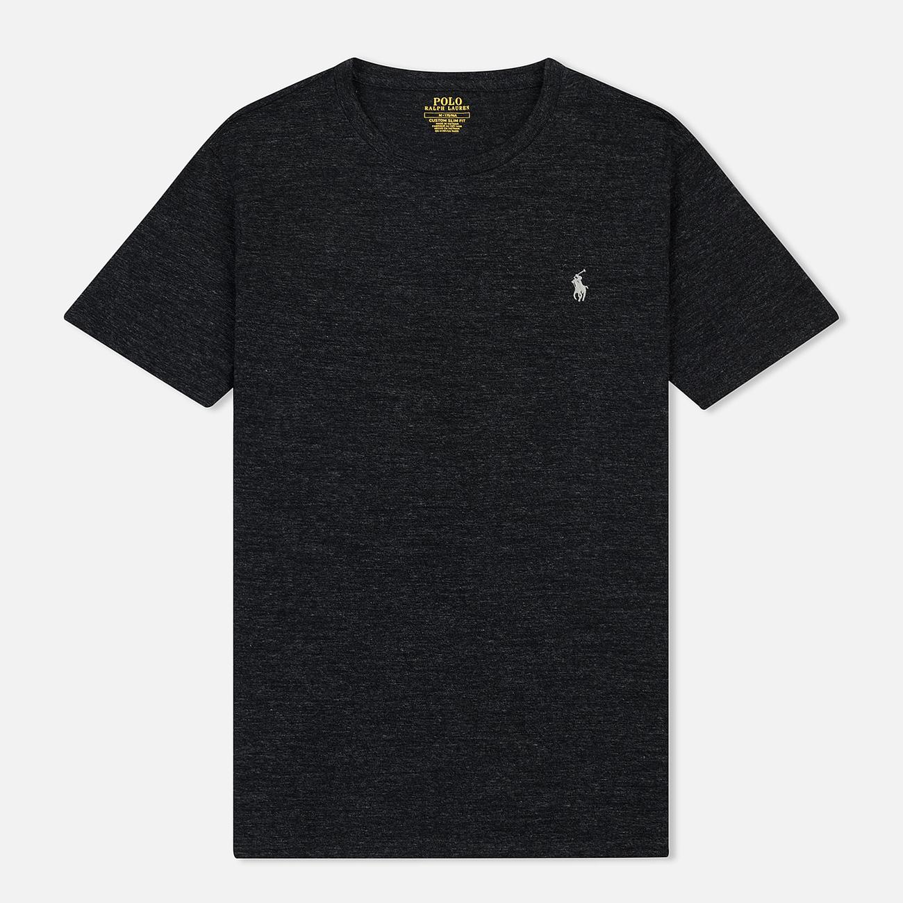Мужская футболка Polo Ralph Lauren Classic Crew Neck 26/1 Jersey Black Marl Heather