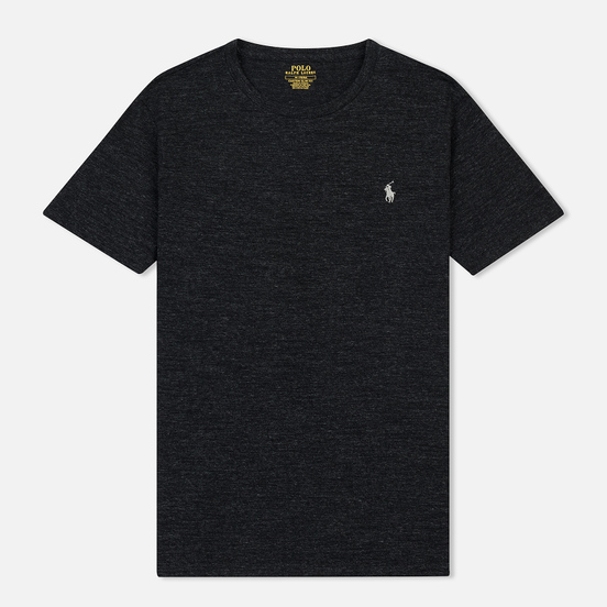 Мужская футболка Polo Ralph Lauren Classic Crew Neck 26/1 Jersey Black Marl Heather