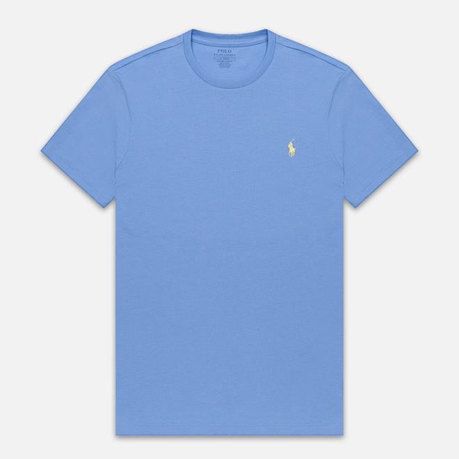 Мужская футболка Polo Ralph Lauren Classic Crew Neck 26/1 Jersey Cabana Blue