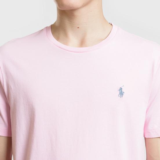 Мужская футболка Polo Ralph Lauren Classic Crew Neck 26/1 Jersey Carmel Pink