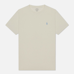 Мужская футболка Polo Ralph Lauren Classic Crew Neck 26/1 Jersey Chic Cream/Light Blue
