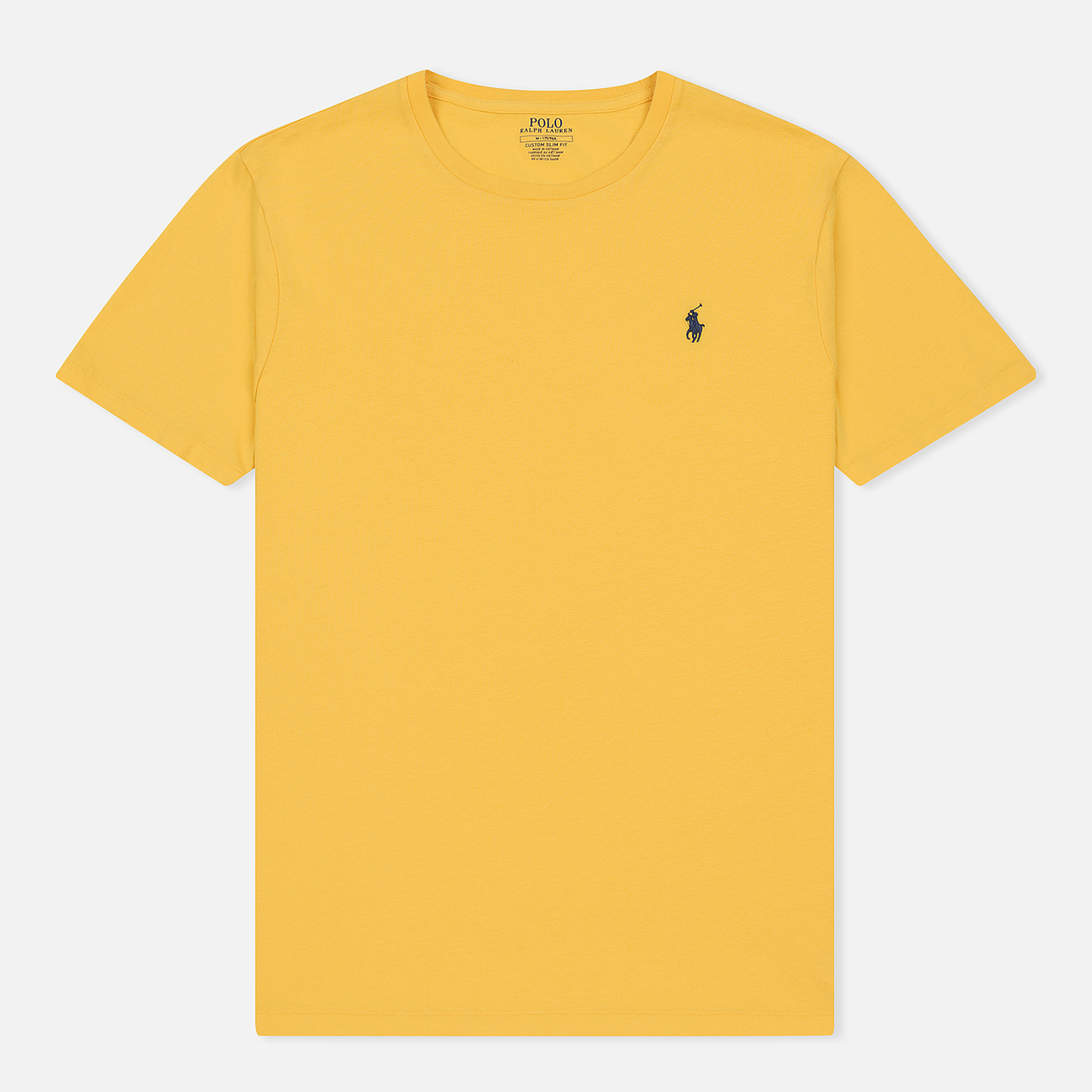 Мужская футболка Polo Ralph Lauren Classic Crew Neck 26/1 Jersey Chrome Yellow