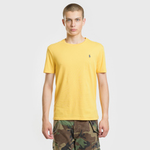 Мужская футболка Polo Ralph Lauren Classic Crew Neck 26/1 Jersey Chrome Yellow фото- 1