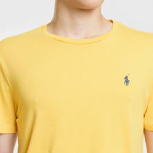 Мужская футболка Polo Ralph Lauren Classic Crew Neck 26/1 Jersey Chrome Yellow фото- 2