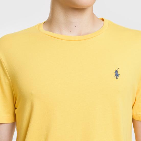 Мужская футболка Polo Ralph Lauren Classic Crew Neck 26/1 Jersey Chrome Yellow