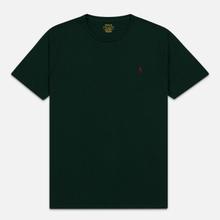 Мужская футболка Polo Ralph Lauren Classic Crew Neck 26/1 Jersey College Green/Signet Red фото- 0