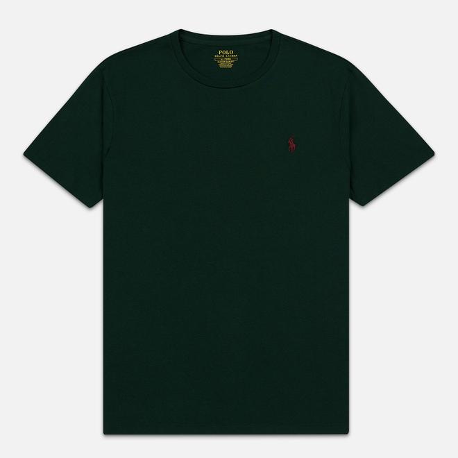Мужская футболка Polo Ralph Lauren Classic Crew Neck 26/1 Jersey College Green/Signet Red