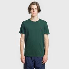 Мужская футболка Polo Ralph Lauren Classic Crew Neck 26/1 Jersey College Green/Signet Red фото- 1