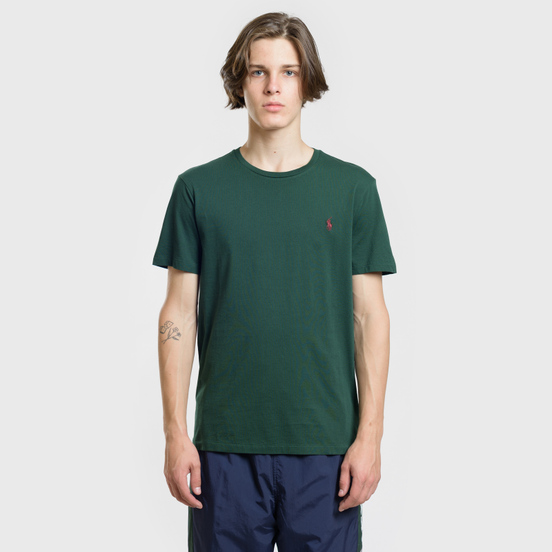 Мужская футболка Polo Ralph Lauren Classic Crew Neck 26/1 Jersey College Green/Signet Red