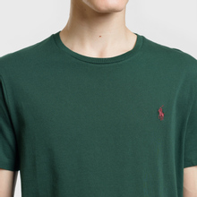 Мужская футболка Polo Ralph Lauren Classic Crew Neck 26/1 Jersey College Green/Signet Red фото- 2