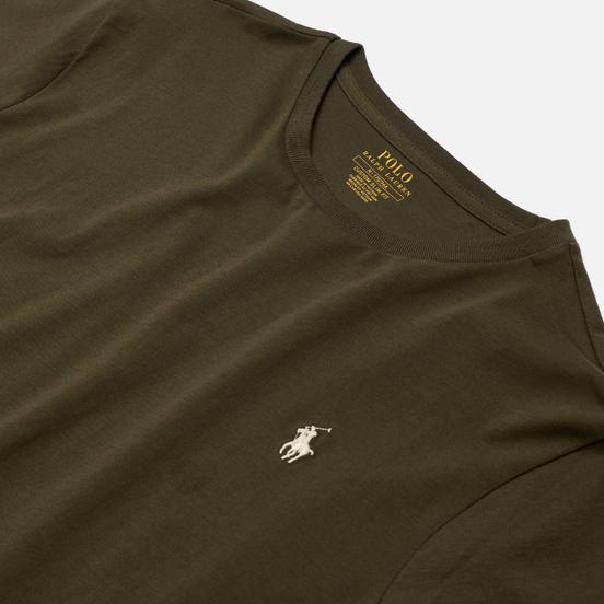 Мужская футболка Polo Ralph Lauren Classic Crew Neck 26/1 Jersey Defender Green