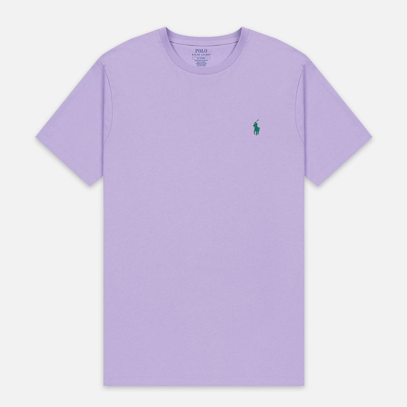 Мужская футболка Polo Ralph Lauren Classic Crew Neck 26/1 Jersey English Lavender
