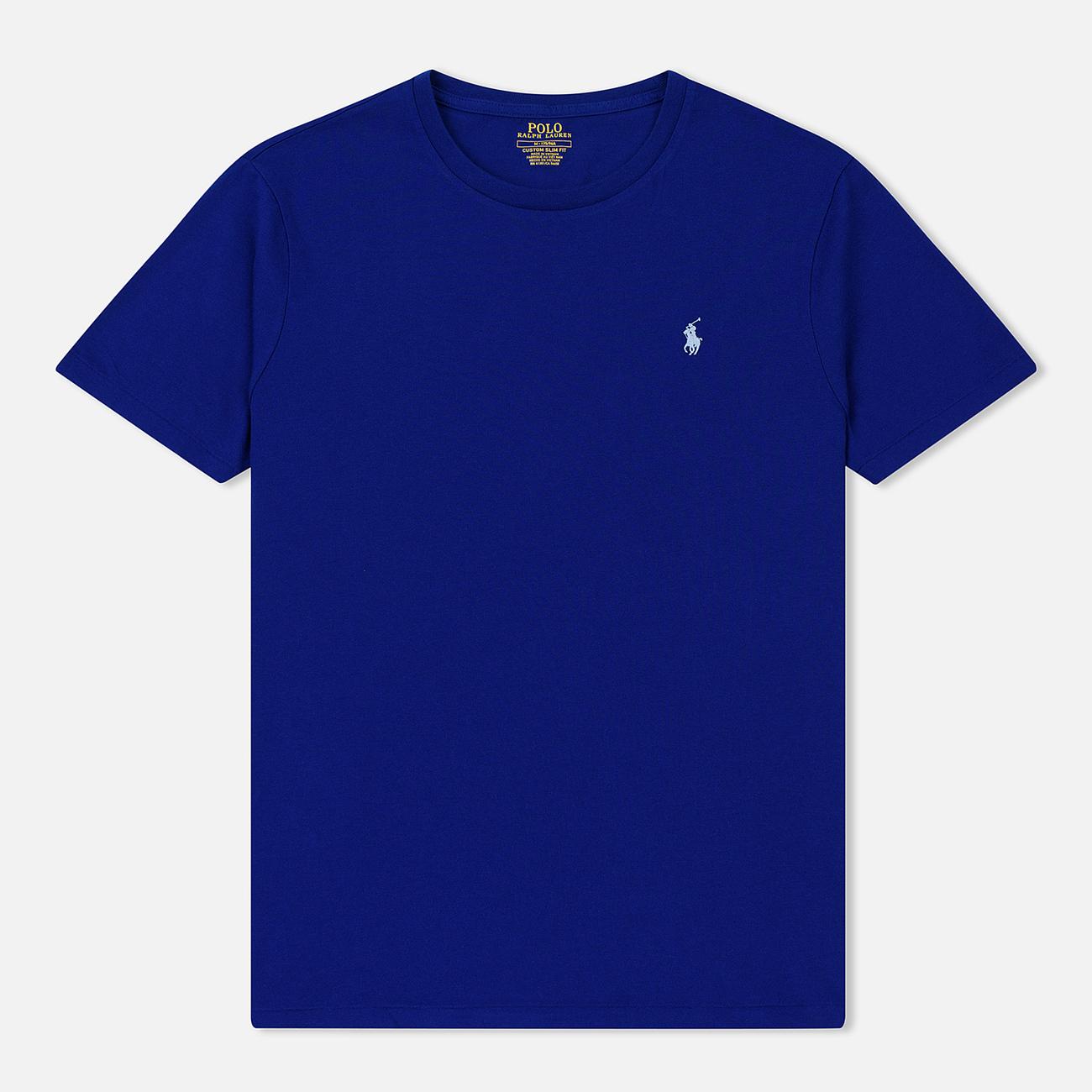 Мужская футболка Polo Ralph Lauren Classic Crew Neck 26/1 Jersey Heritage Royal