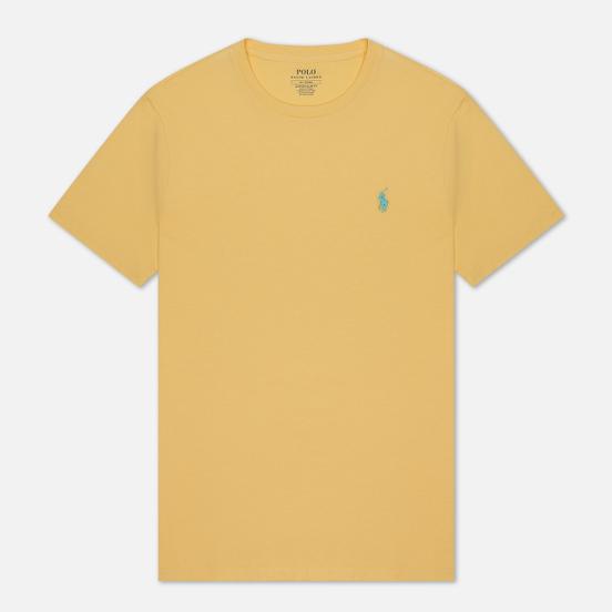 Мужская футболка Polo Ralph Lauren Classic Crew Neck 26/1 Jersey Empire Yellow