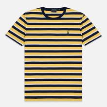 Мужская футболка Polo Ralph Lauren Classic Crew Neck Stripe Chrome Yellow/Multicolor фото- 0