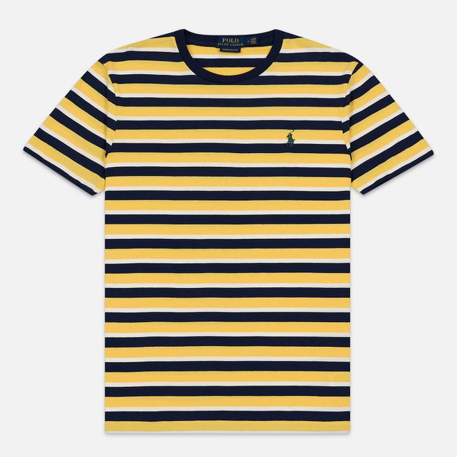 Мужская футболка Polo Ralph Lauren Classic Crew Neck Stripe Chrome Yellow/Multicolor
