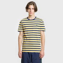 Мужская футболка Polo Ralph Lauren Classic Crew Neck Stripe Chrome Yellow/Multicolor фото- 1