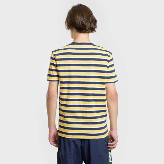 Мужская футболка Polo Ralph Lauren Classic Crew Neck Stripe Chrome Yellow/Multicolor