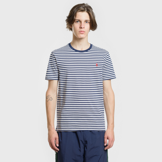 Мужская футболка Polo Ralph Lauren Classic Crew Neck Stripe Nevis/Newport Navy/Red