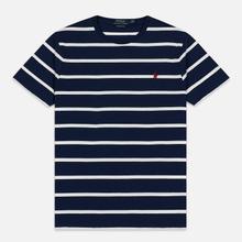 Мужская футболка Polo Ralph Lauren Classic Crew Neck Stripe Newport Navy/Nevis фото- 0