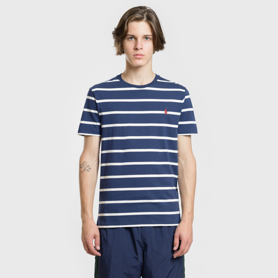 Мужская футболка Polo Ralph Lauren Classic Crew Neck Stripe Newport Navy/Nevis