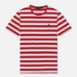 Мужская футболка Polo Ralph Lauren Classic Fit Striped Washed Cotton Red/White фото - 0