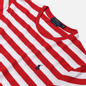 Мужская футболка Polo Ralph Lauren Classic Fit Striped Washed Cotton Red/White фото - 1