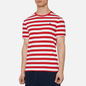 Мужская футболка Polo Ralph Lauren Classic Fit Striped Washed Cotton Red/White фото - 2